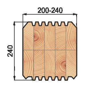 Клееный брус из кедра 200х240мм.png